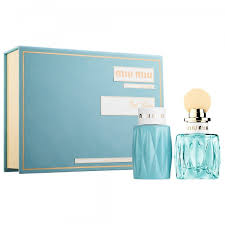 MIU MIU L'EAU BLEUE GIFT SET 100ML EDP 100ML BODY LOTION