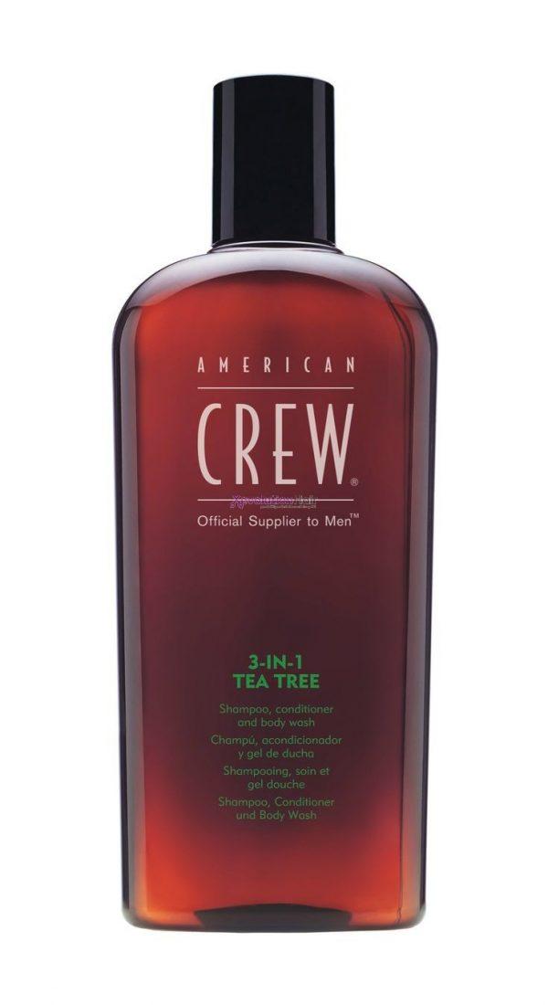 American Crew Tea Tree 3 in 1 Shampoo Conditioner Body Wash 450ml