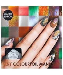 Ciaté Colourfoil Nail Gift Set 13.5ml Kaleidoscope Klash Nail Polish 13.5ml Wonderland Nail Polish 2 x 5ml Foil Fix Foils