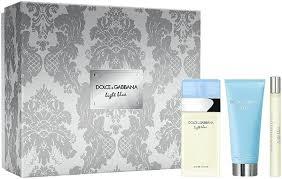 Dolce Gabbana Light Blue Gift Set 50ml EDT 50ml Body Cream 10ml EDT