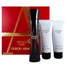Giorgio Armani Code Gift Set EDP 50ml 75ml Shower Gel 75ml Body Lotion