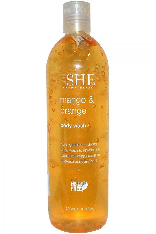 Om She Aromatherapy Mango and Orange Body Wash 500ml