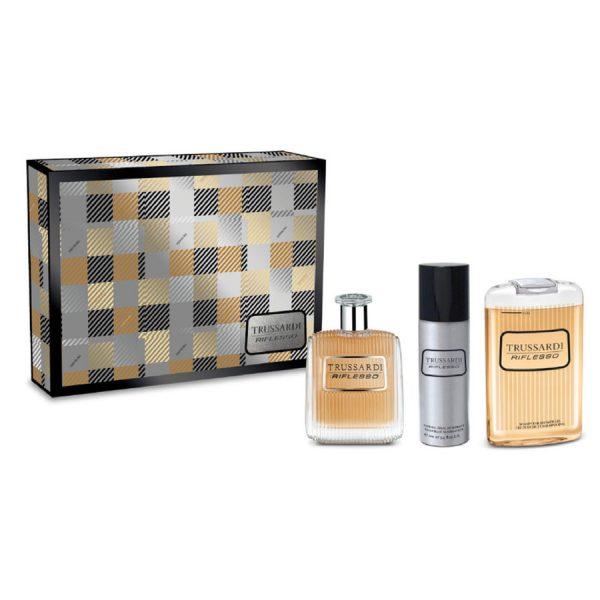 Trussardi Uomo Tweed Weekend Gift Set 50ml EDT 30ml Aftershave Balm 30ml Shower Gel