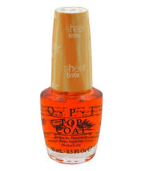 OPI Sheer Tints Top Coat 15ml Im Never Amberrassed NTS01