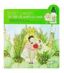 Sallys Box Secret Garden Tea Trea Oil Ampoule Face Mask 21ml