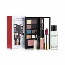 Elizabeth Arden Beauty on the Go Gift Set 6.4g x 8 Eye Shadows 2g Blush 4ml Luminous Lip Gloss 3.5g Raspberry Lipstick 50ml Eye and Lip Makeup Remover
