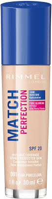 Rimmel Match Perfection Foundation SPF20 30ml 001 Fair Porcelain