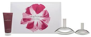 Calvin Klein Euphoria Gift Set 100ml EDP 30ml EDP 100ml Body Lotion