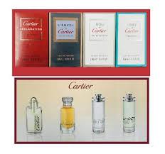 Cartier Miniatures For Men Gift Set 4ml Declaration EDT 5ml LEnvol EDP 5ml Eau de Cartier EDT 5ml Eau de Cartier Concentrée EDT