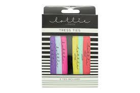 Lottie London Trees Ties Snag Free Hair Ties Pack Of 5