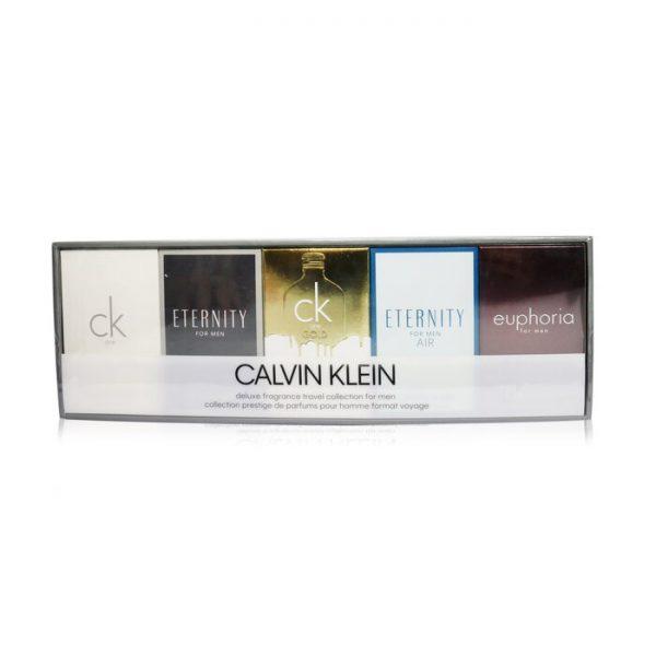 Calvin Klein Mens Mini Set Gift Set 10ml CK One EDT 10ml Eternity EDT 10ml CK One Gold EDT 10ml Eternity Air EDT 10ml Euphoria EDT