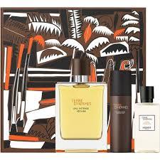 Hermès Terre dHermès Eau Intense Vetiver Gift Set 100ml EDP 80ml Shower Gel 40ml Aftershave Lotion