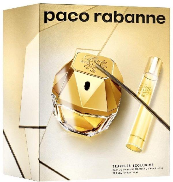 Paco Rabanne Lady Million Gift Set 80ml EDP 20ml EDP