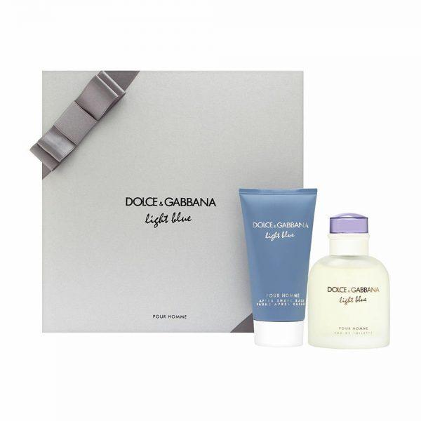 Dolce Gabbana Light Blue Christmas 2019 Gift Set 75ml EDT 75ml Aftershave Balm