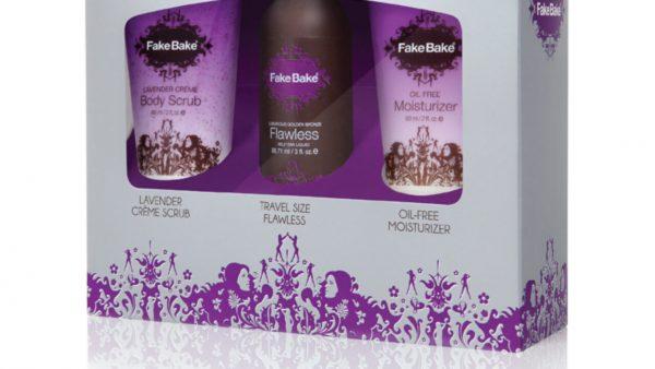 Fake Bake Flawless Travel Kit 80ml Self Tan Liquid 60ml Body Scrub 60ml Oil Free Moisturiser