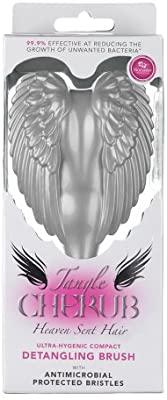 Tangle Angel Cherub Detangling Brush With Antimicrobial Bristles – Silver