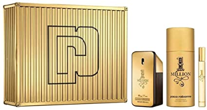 Paco Rabanne 1 Million Gift Set 100ml EDT 150ml Deodorant Spray 10ml EDT