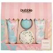 Style Grace Bubble Boutique Gift of Glow Set 100ml Body Wash 100ml Body Lotion 80g Bath Fizzer Shower Flower
