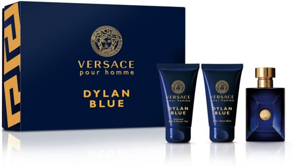 Versace Pour Homme Dylan Blue Gift Set 50ml EDT 50ml AShave Balm 50ml Shower Gel