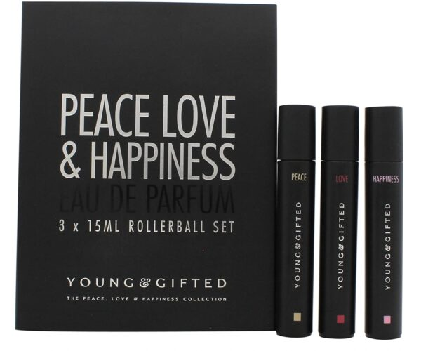 Young Gifted Gift Set 3 x 15ml EDP Rollerball Peace Love Happiness