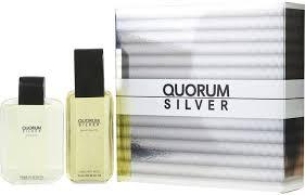 Antonio Puig Quorum Silver Gift Set 100ml EDT 100ml Aftershave