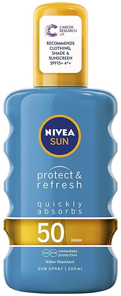 Nivea Protect Refresh Sun Lotion SPF50 200ml