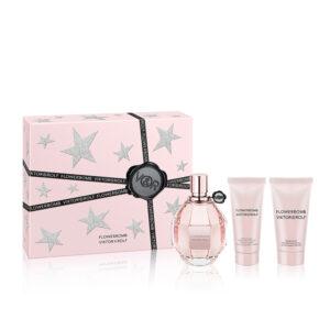 Viktor Rolf Flowerbomb Gift Set 100ml EDP 50ml Shower Gel 40ml Body Cream