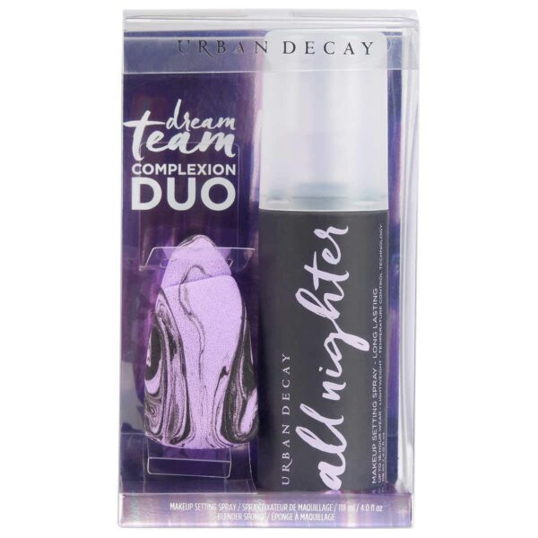 Urban Decay Dream Team Complexion Duo Gift Set 118ml All Nighter Makeup Setting Spray Bounce Blend Makeup Sponge