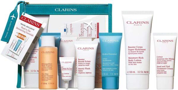 Clarins Head to Toe Moisturizing Essentials Gift Set 6 Pieces