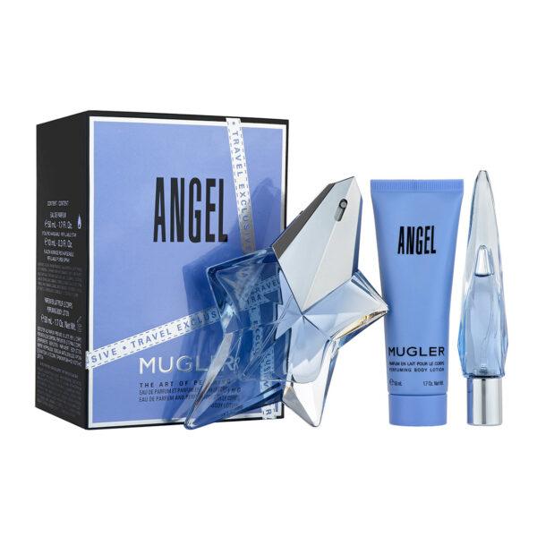 Thierry Mugler Angel Gift Set 50ml EDP Refillable 10ml EDP 50ml Body Lotion