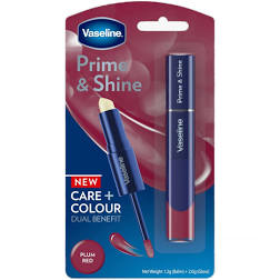 Vaseline Prime Shine 2 in 1 Lip Balm and Coloured Lip Gloss 3.2ml Scarlet