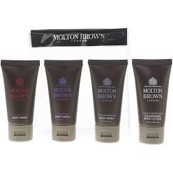 Molton Brown Gift Set 30ml Coco Sandalwood Body Lotion 30ml Ylang Ylang Body Lotion 2 x 30ml White Sandalwood Body Wash