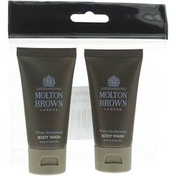 Molton Brown White Sandalwood Body Wash Gift Set 2 x 30ml