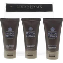 Molton Brown White Sandalwood Body Wash Gift Set 3 x 30ml